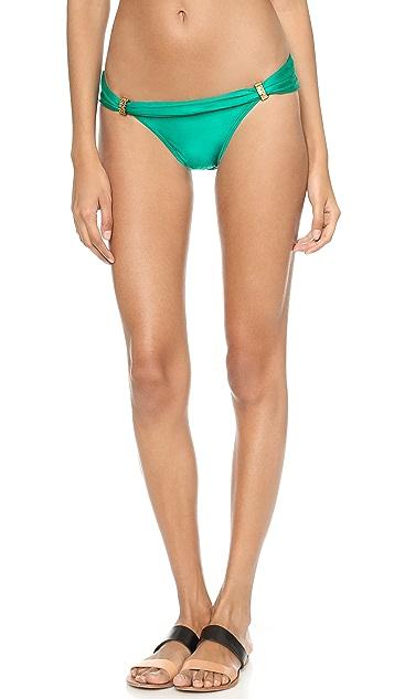 ViX Swimwear Solid Green Bikini Bottoms