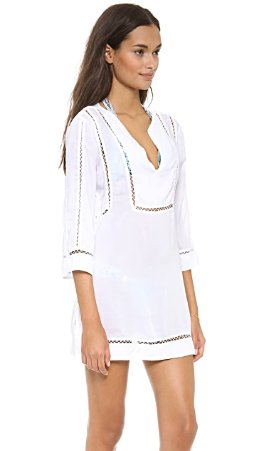 ViX Swimwear Solid White Caftan