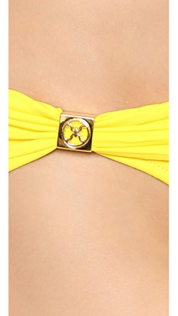 ViX Swimwear Solid Yellow Bikini Bottoms