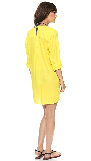 ViX Swimwear Solid Yellow Chemise