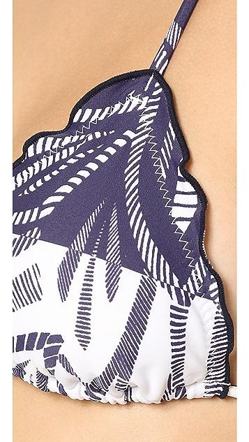 ViX Swimwear Una Ripple Triangle Bikini Top