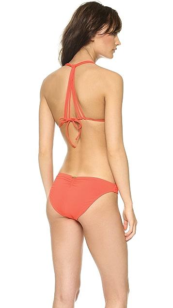 ViX Swimwear Sofia Solid Peach Bikini Top