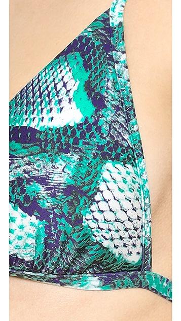 ViX Swimwear Snakeskin Print Bikini Top