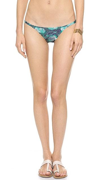 ViX Swimwear Snake Print Bikini Bottoms