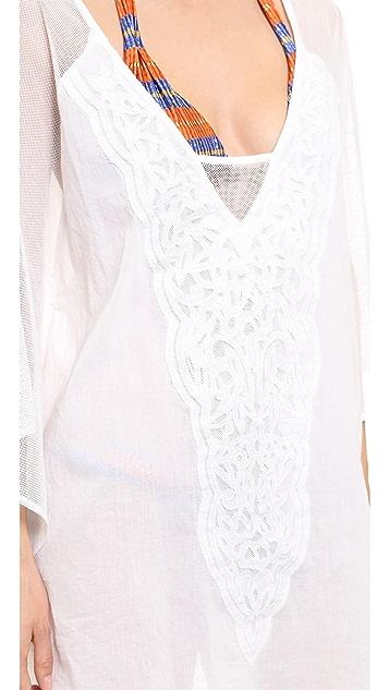 ViX Swimwear Solid White Caftan