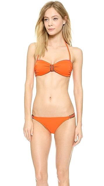 22ecd0d52f ViX Swimwear Sofia by Vix Solid Tangerine Bandeau Bikini Top ...
