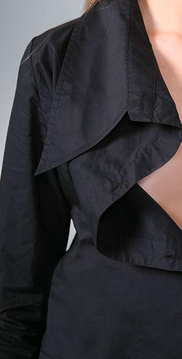 Victorialand Medium Body Shirt with Asymmetrical Collar