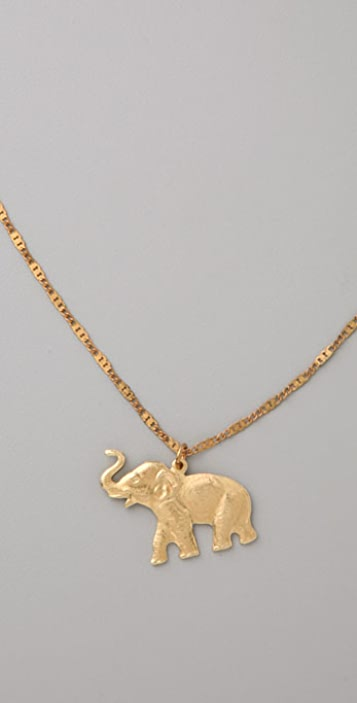 Vanessa Mooney Elephant Necklace