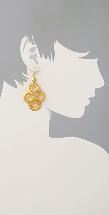 Vanessa Mooney Filigree Earrings