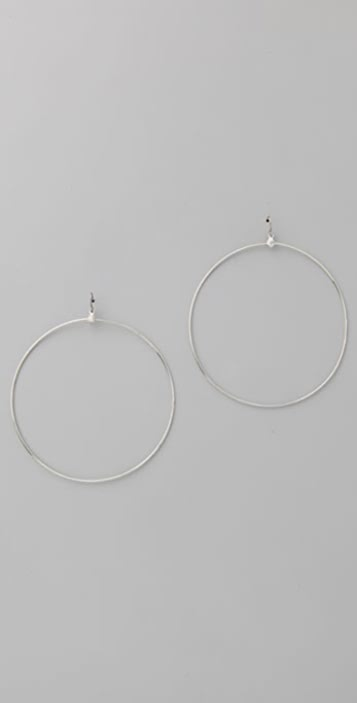 Vanessa Mooney Silver Hoop Earrings