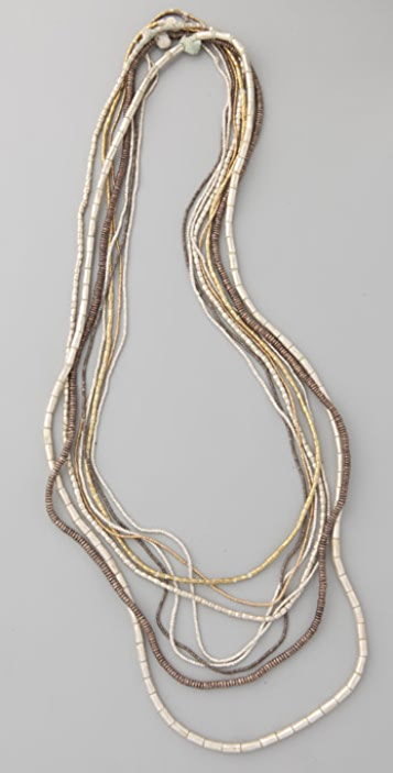 Vanessa Mooney Mixed Metal African Necklace