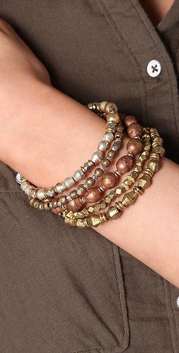 Vanessa Mooney Vintage Bead Bangle Set