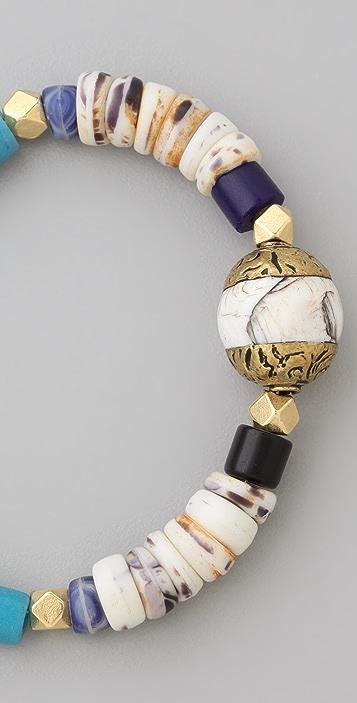 Vanessa Mooney Vintage African Glass Bracelet