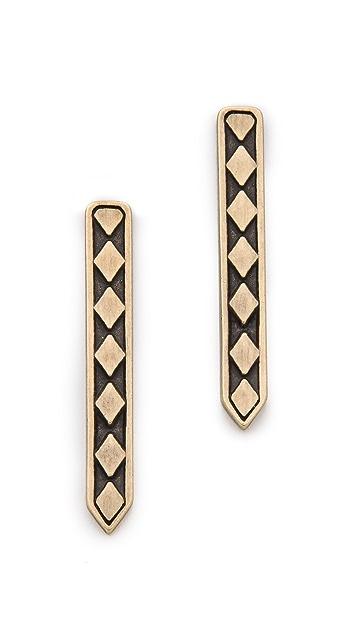 Vanessa Mooney Labyrinth Column Earrings
