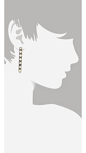 Vanessa Mooney Labyrinth Column Earrings
