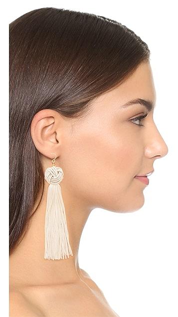 Vanessa Mooney The Astrid Knotted Tassel Earrings