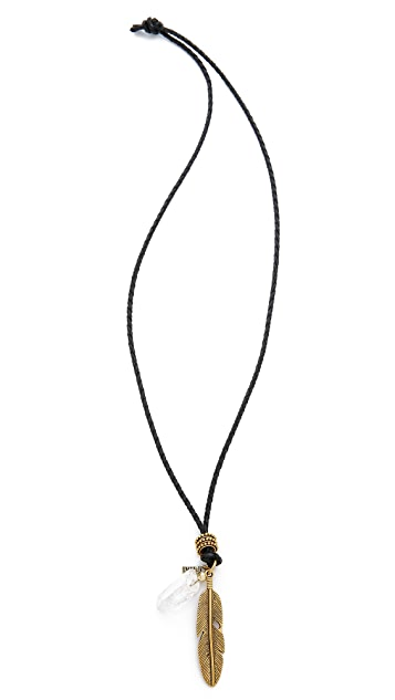 Vanessa Mooney The Heartbreaker Leather Necklace