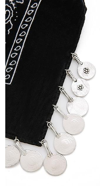 Vanessa Mooney The Harper Coin Bandana Necklace