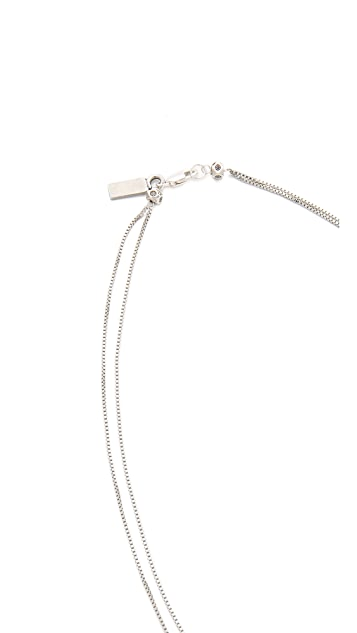 Vanessa Mooney Carry On Our Way Feather Necklace