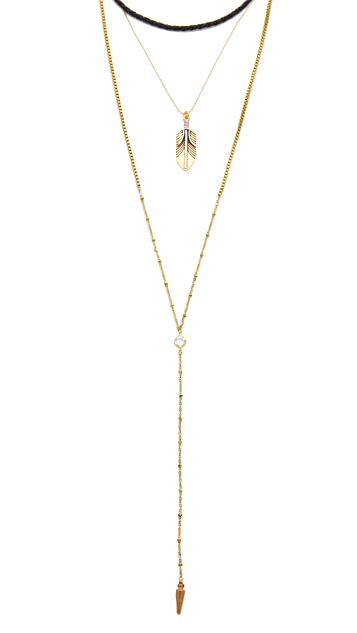 Vanessa Mooney The Brooklyn Feather Choker