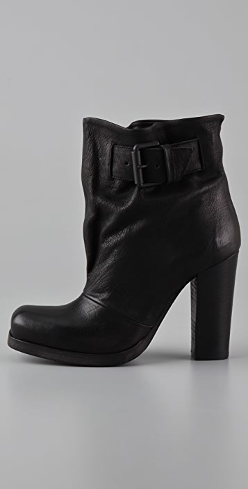 Vic Matie Buckle High Heel Booties