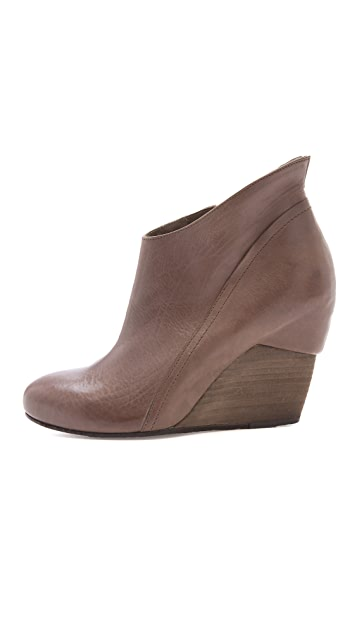 Vic Matie Slanted Wedge Booties