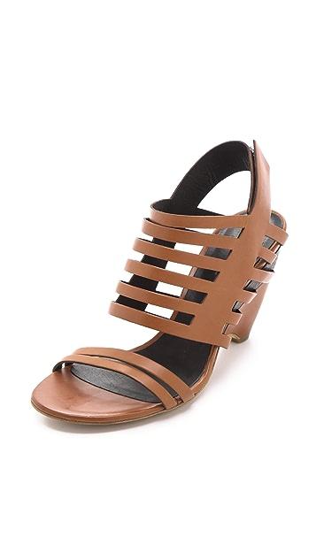 Vic Matie Low Heel Banded Sandals