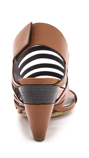 Vic Matie Low Heel Banded Sandals