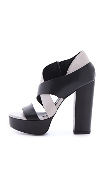 Vic Matie Chunky Colorblock Sandals