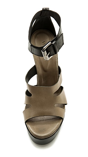 eb214d87877 ... Vic Matie Cutout Ankle Strap Sandals ...