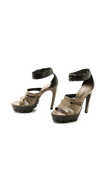 Vic Matie Cutout Ankle Strap Sandals