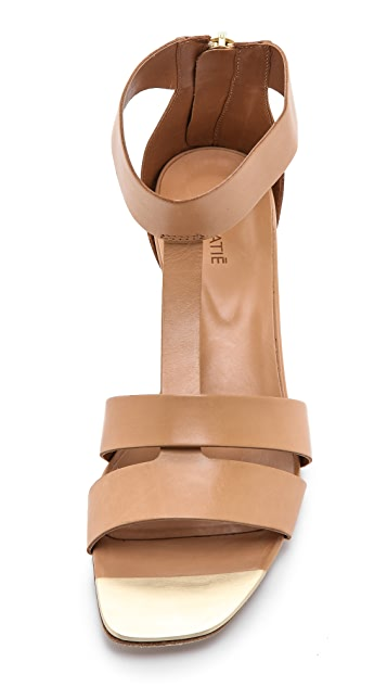 Vic Matie T Strap Wedge Sandals