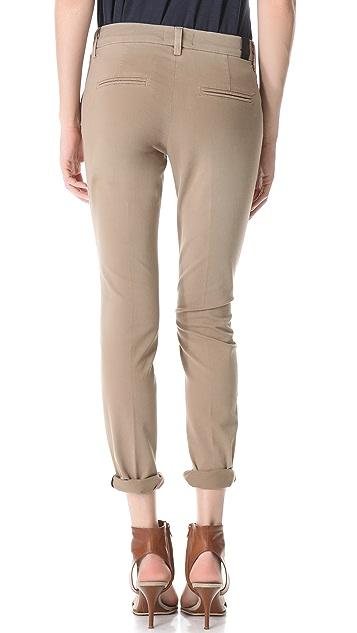 Vince Denim Creased Chino Pants