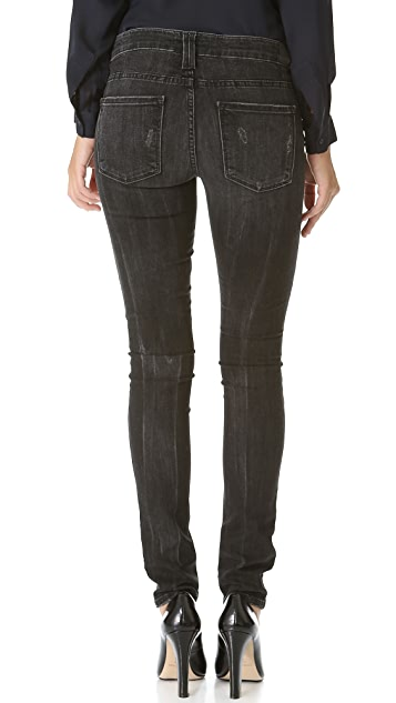 Vince Denim Destroyed Skinny Jeans