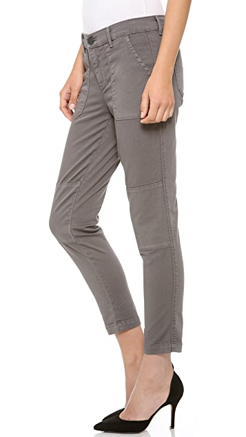 Vince Denim Military Rolled Trousers