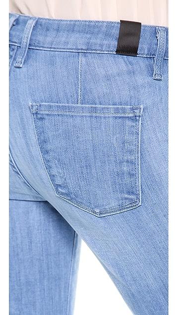 Vince Denim High Rise Pintuck Boot Cut Jeans