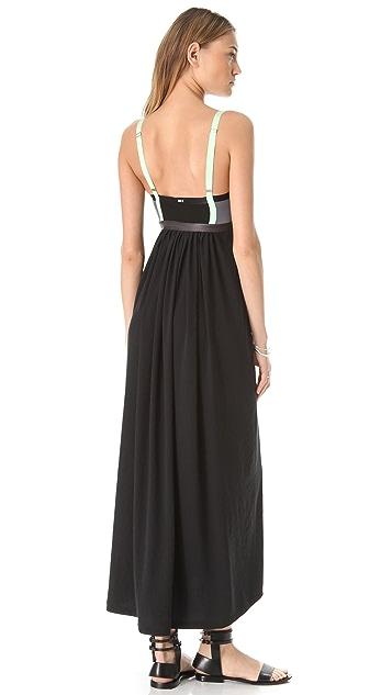 VPL Insertion Narrow Maxi Dress
