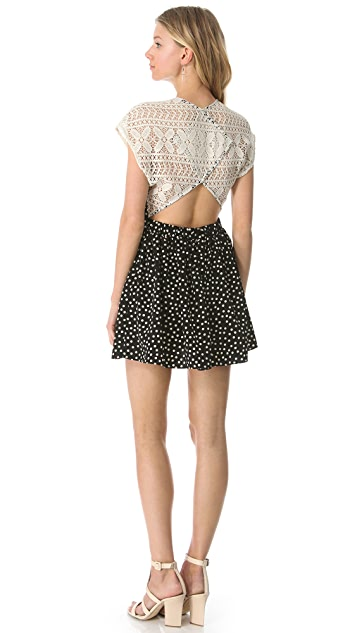 Viva Vena! by Vena Cava Marfa Crochet Combo Dress