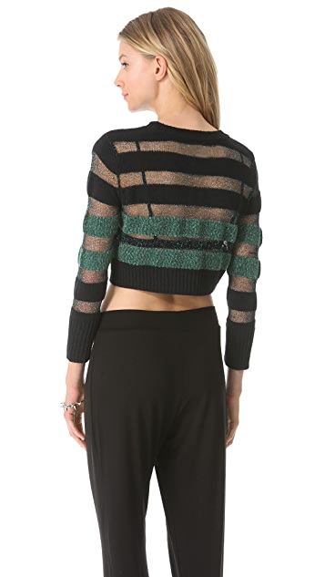 Viva Vena! by Vena Cava City Life Cropped Sweater