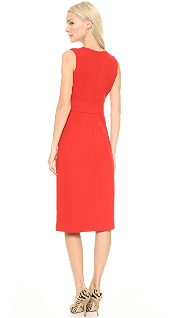 Victoria Victoria Beckham Deep V Midi Dress