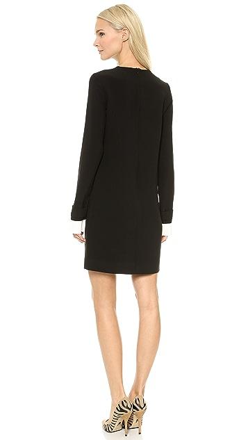 Victoria Victoria Beckham Pleat Cuff Shift Dress