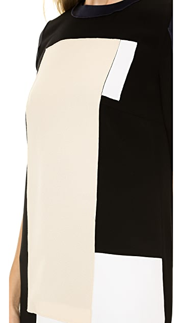 Victoria Victoria Beckham Color Patch Mini Dress