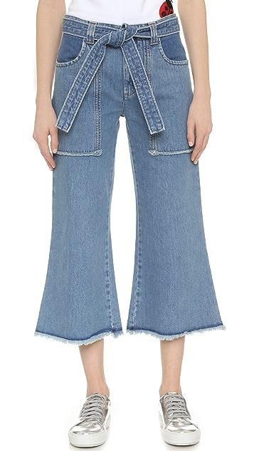 Victoria Victoria Beckham Patch Pocket Culotte Jeans
