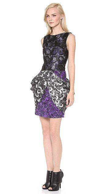 Vera Wang Collection Metallic Sleeveless Dress