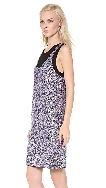 Vera Wang Collection Sleeveless Rhinestone Dress