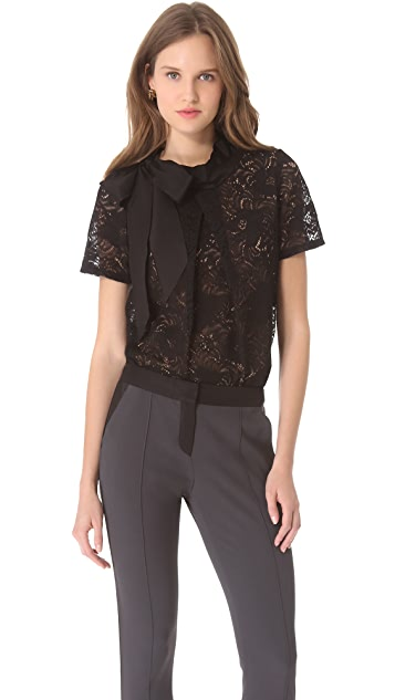 Vera Wang Collection Bow Collar Top