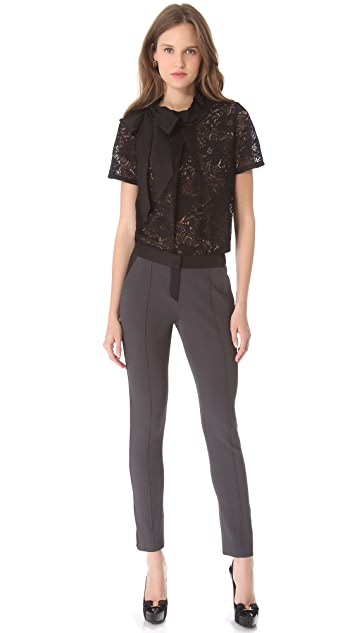 Vera Wang Collection Pintuck Trousers