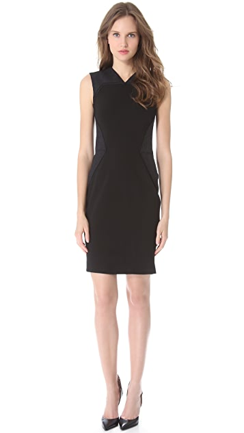 Vera Wang Collection Sheath Dress with Wool Applique