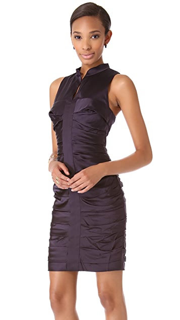 Vera Wang Collection Sleeveless Ruched Dress
