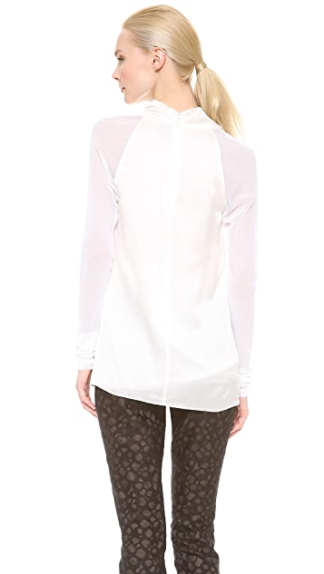 Vera Wang Collection Long Sleeve Cowl Neck Blouse